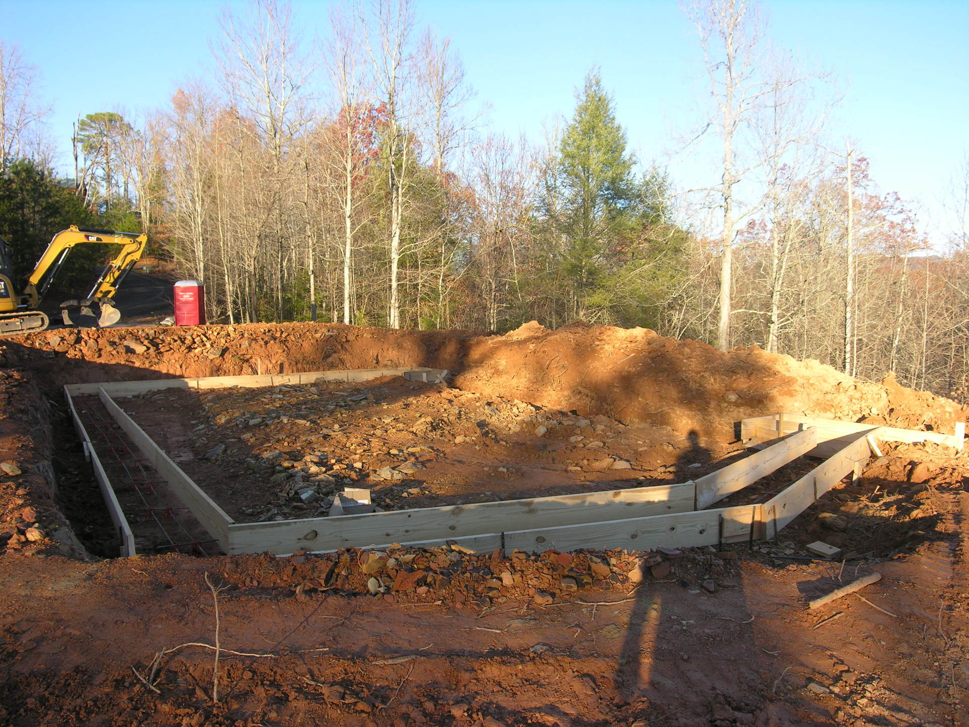 Nov 2016. Footers are being poured for the future 3-level mountain home