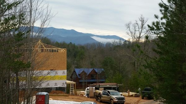 Mt. LeConte providing the backdrop